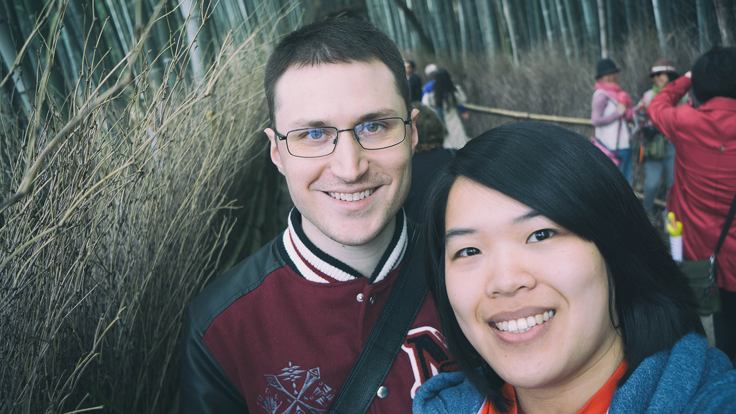 Reid and I at the Bamboo Grove.