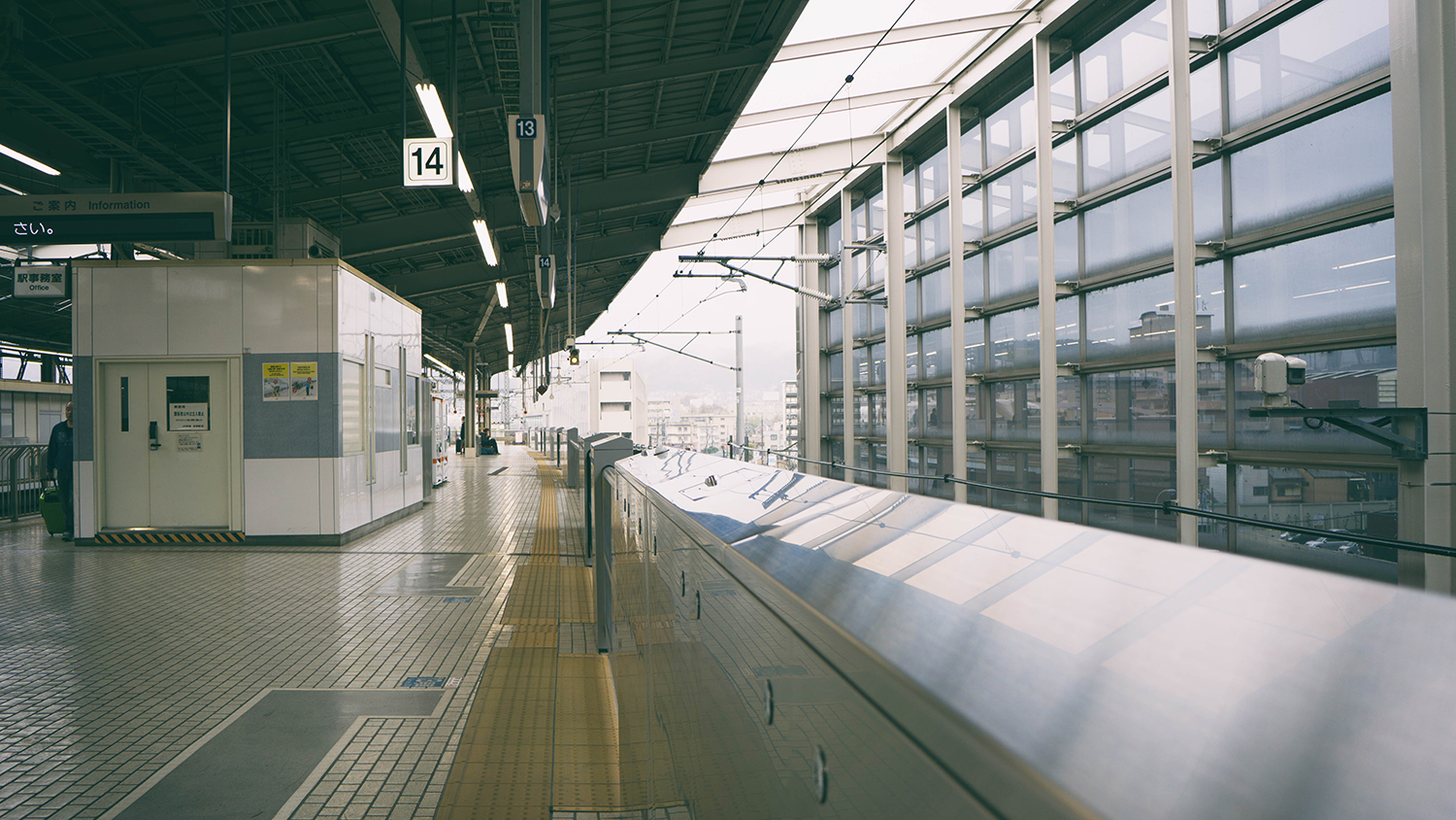 Waiting for our shinkansen